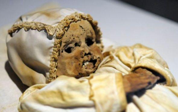 The mummified remains of Johannes Orlovitz, one of the Vac mummies