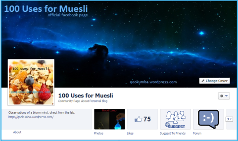 Go and 'Like' the Official 100 Uses for Muesli Facebook page! Go on!